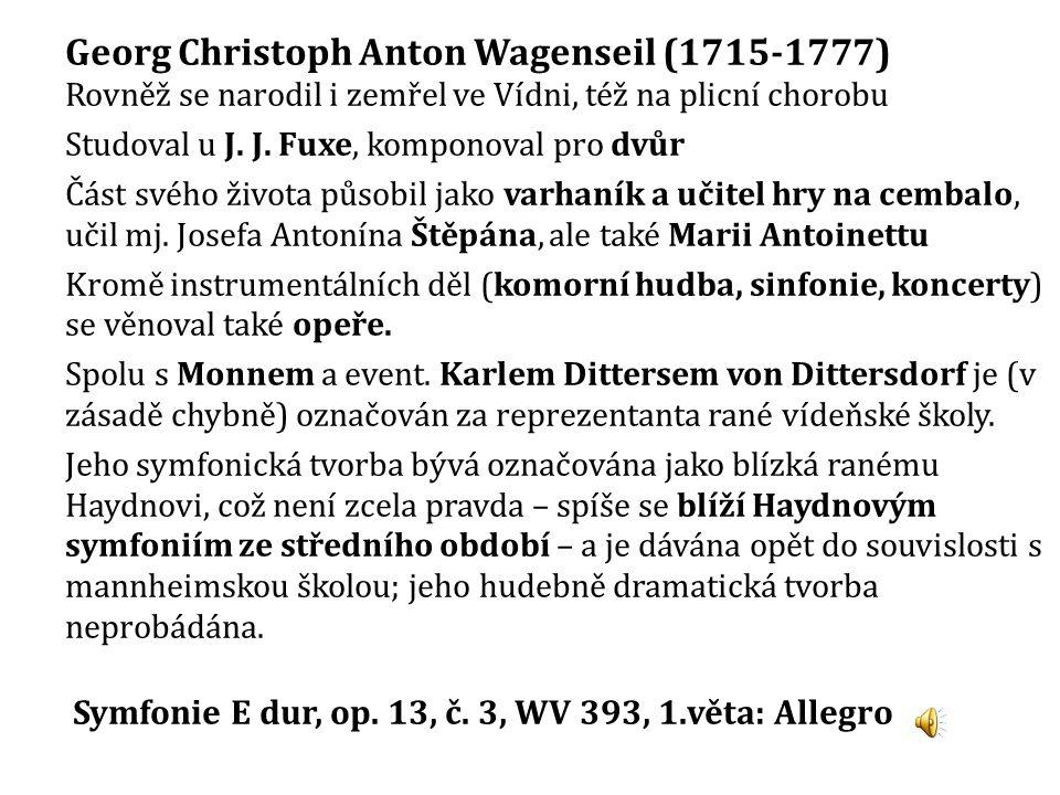 Georg Christoph Anton Wagenseil (1715-1777)
