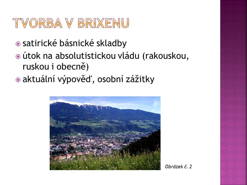 Tvorba v brixenu satirické básnické skladby