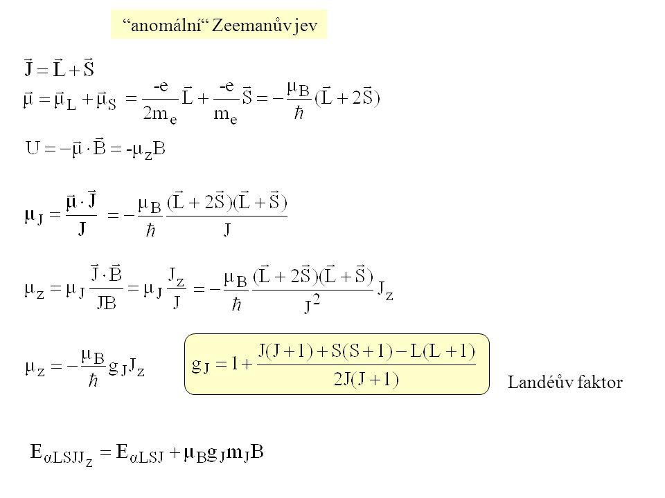anomální Zeemanův jev
