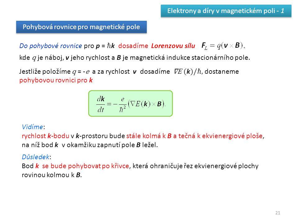 Elektrony a díry v magnetickém poli - 1