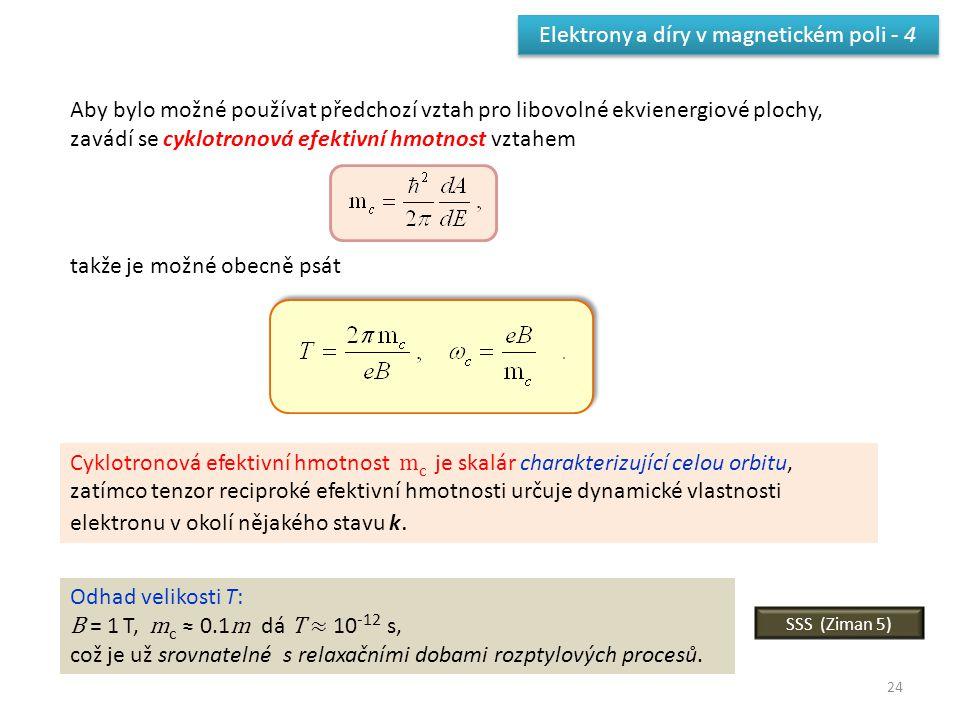 Elektrony a díry v magnetickém poli - 4
