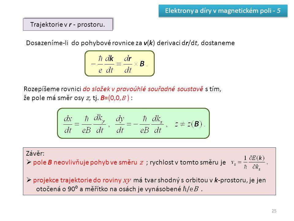 Elektrony a díry v magnetickém poli - 5