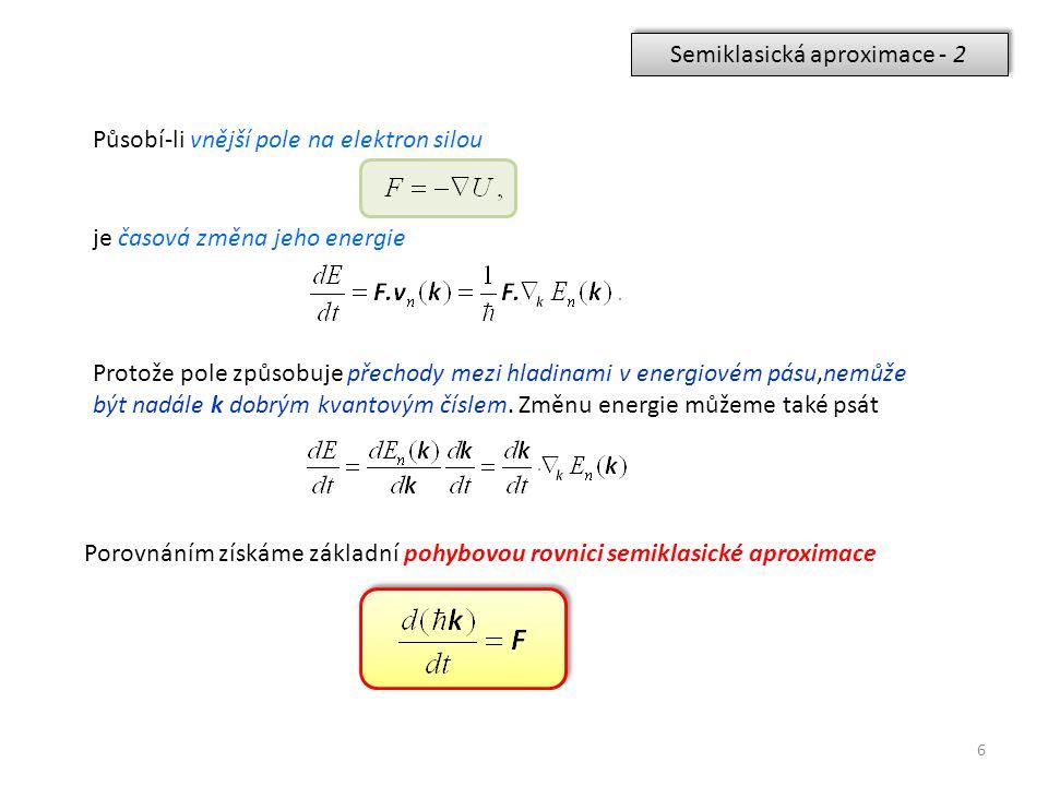 Semiklasická aproximace - 2