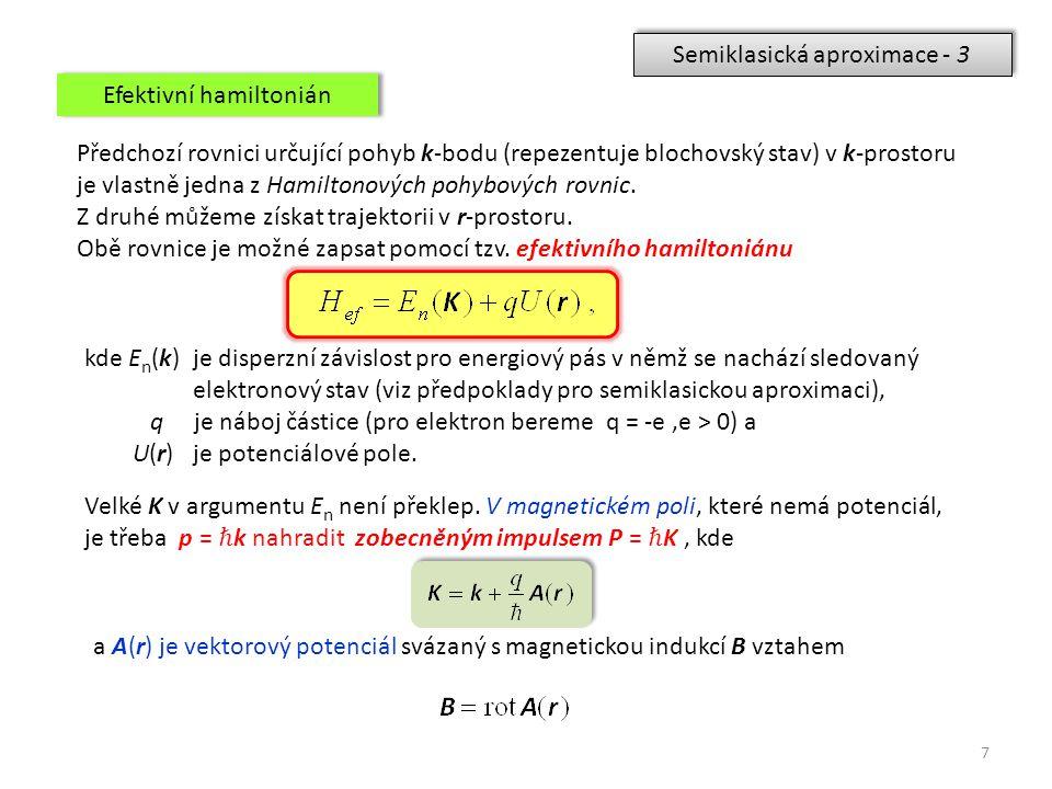 Semiklasická aproximace - 3