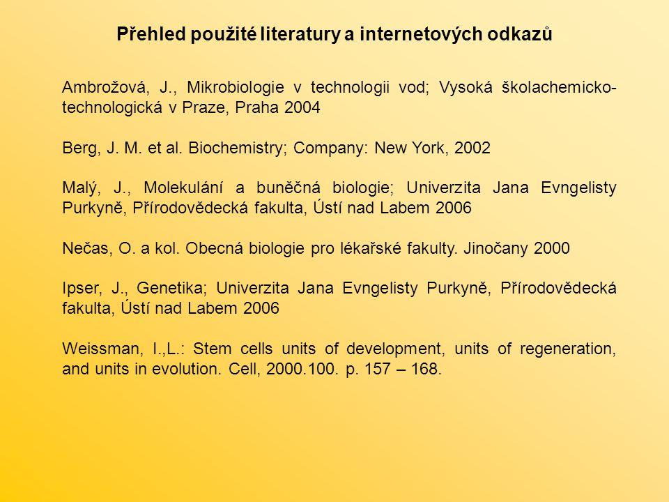 Přehled použité literatury a internetových odkazů