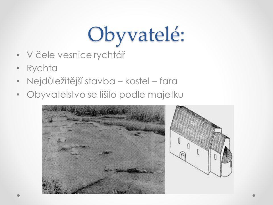 Obyvatelé: V čele vesnice rychtář Rychta