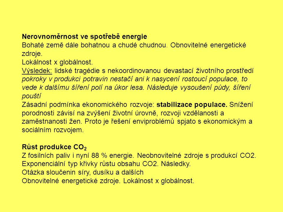 Nerovnoměrnost ve spotřebě energie