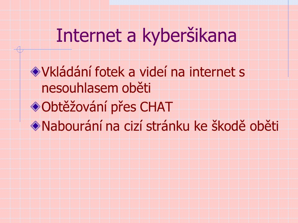 Internet a kyberšikana