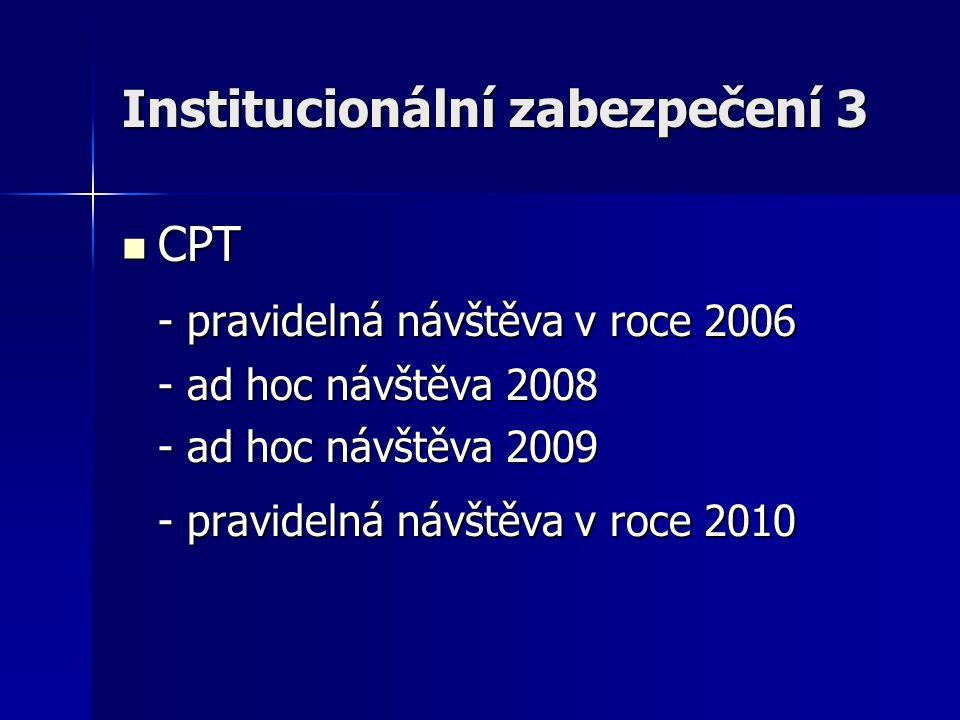 Institucionální zabezpečení 3