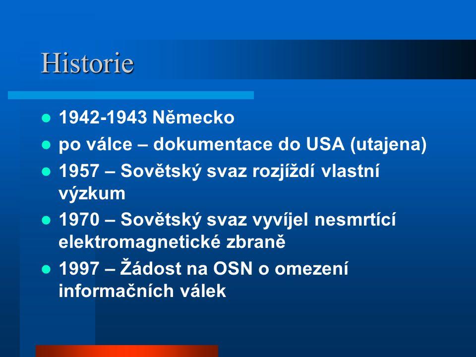 Historie 1942-1943 Německo po válce – dokumentace do USA (utajena)