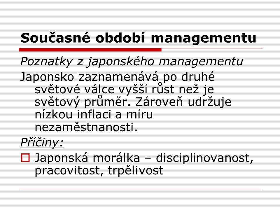 Současné období managementu