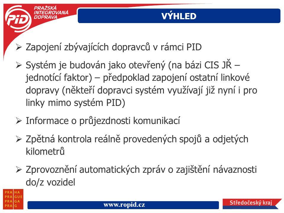 Zapojení zbývajících dopravců v rámci PID