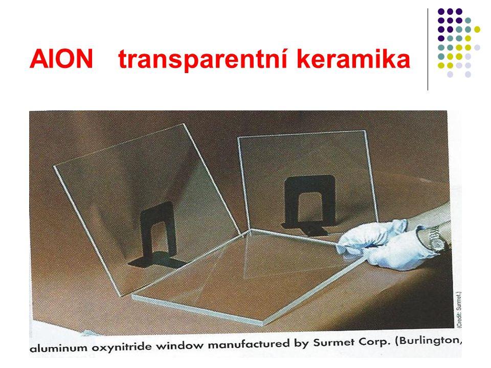 AlON transparentní keramika