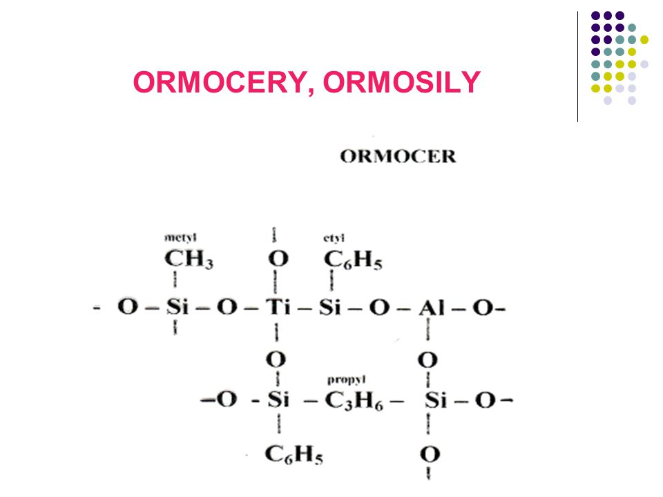 ORMOCERY, ORMOSILY