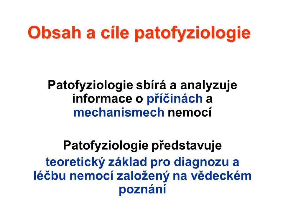 Obsah a cíle patofyziologie