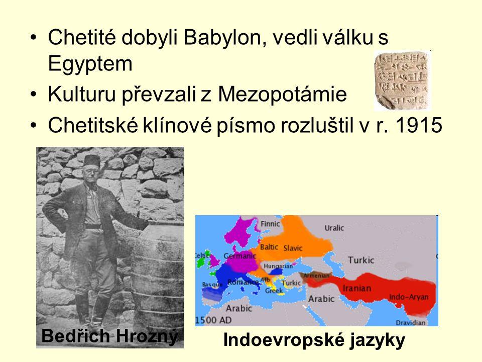 Chetité dobyli Babylon, vedli válku s Egyptem
