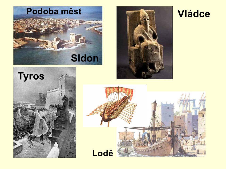 Podoba měst Sidon Vládce Tyros Lodě