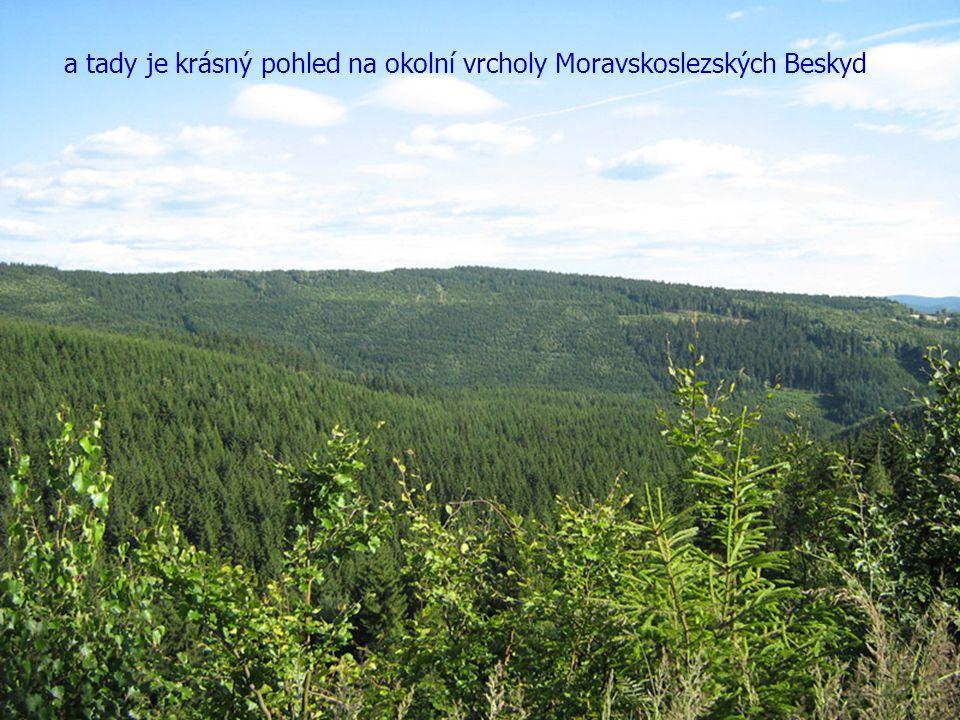 a tady je krásný pohled na okolní vrcholy Moravskoslezských Beskyd