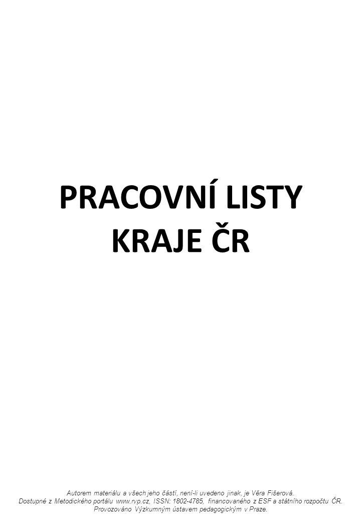 PRACOVNÍ LISTY KRAJE ČR