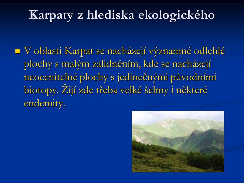 Karpaty z hlediska ekologického