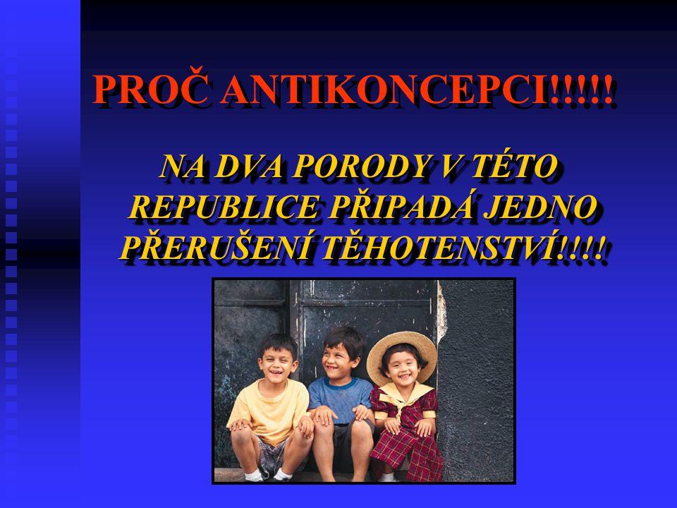 NA DVA PORODY V TÉTO REPUBLICE PŘIPADÁ JEDNO PŘERUŠENÍ TĚHOTENSTVÍ!!!!