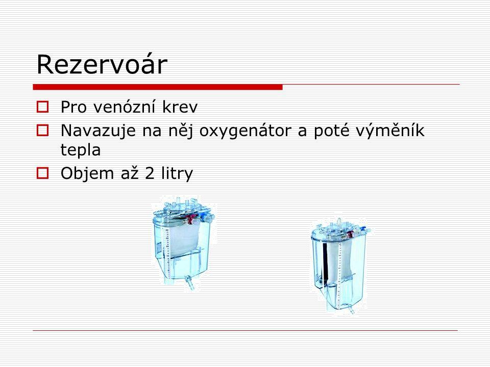 Rezervoár Pro venózní krev