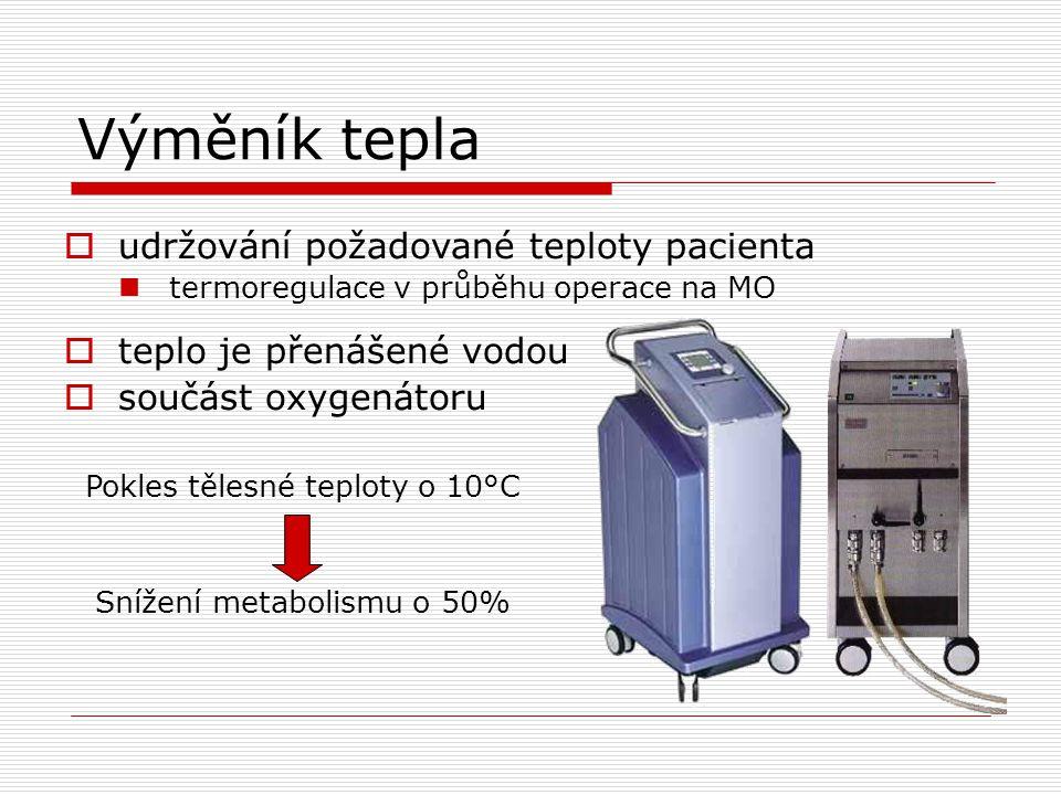 Výměník tepla udržování požadované teploty pacienta