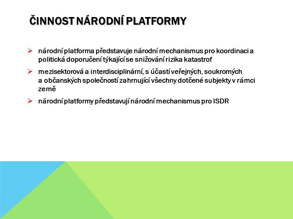 Činnost Národní platformy