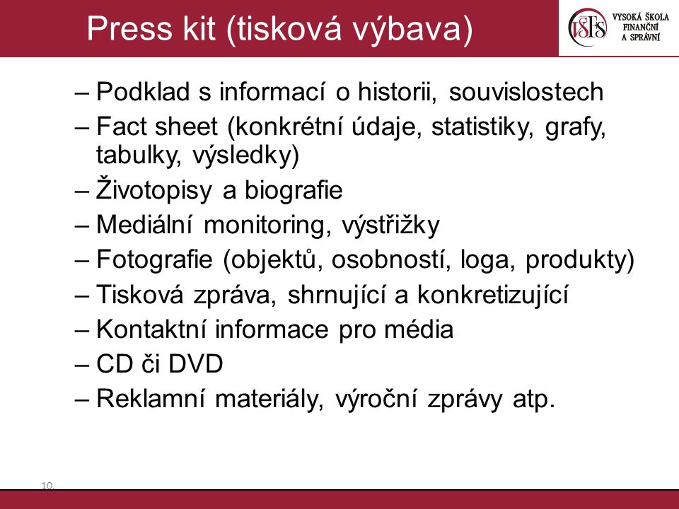 Press kit (tisková výbava)