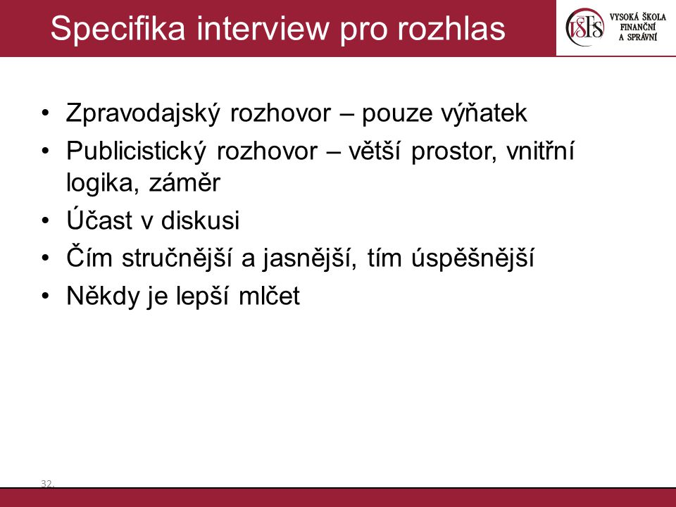 Specifika interview pro rozhlas