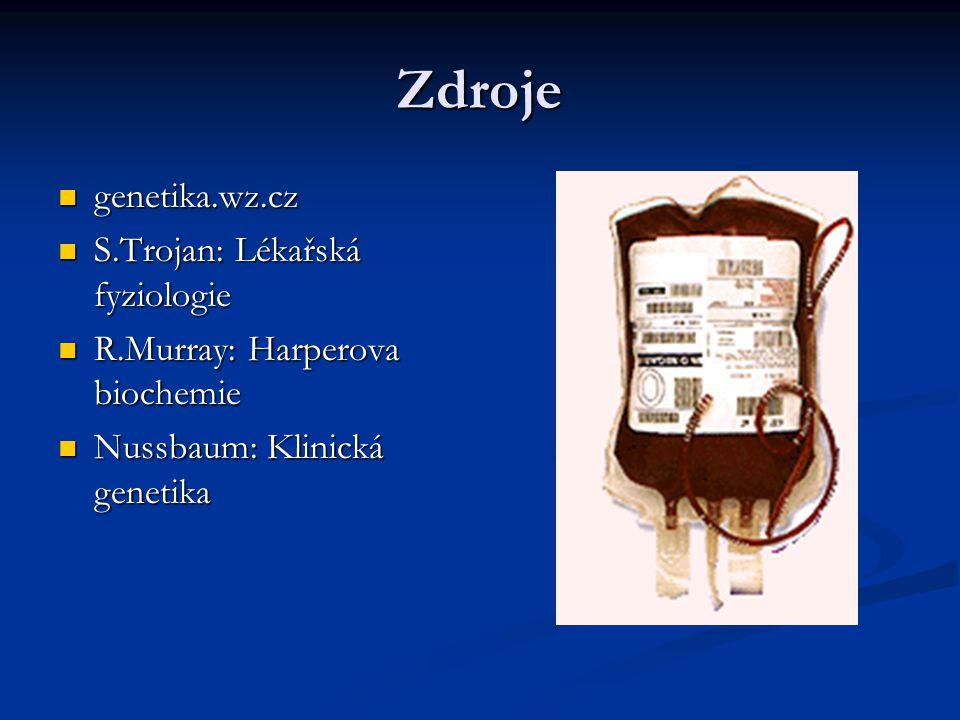 Zdroje genetika.wz.cz S.Trojan: Lékařská fyziologie