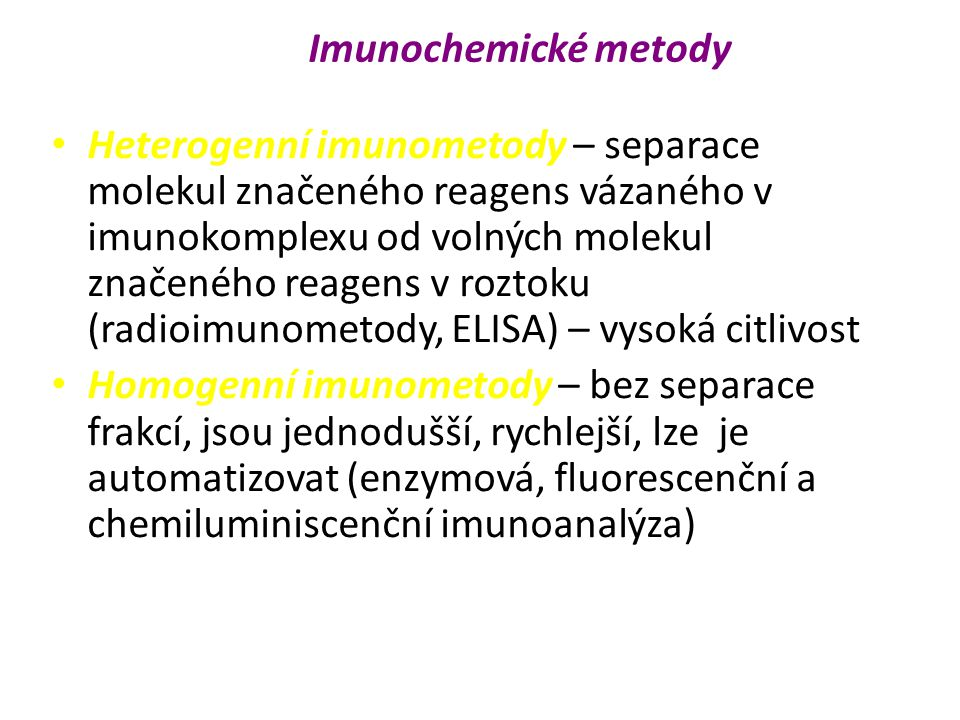 Imunochemické metody