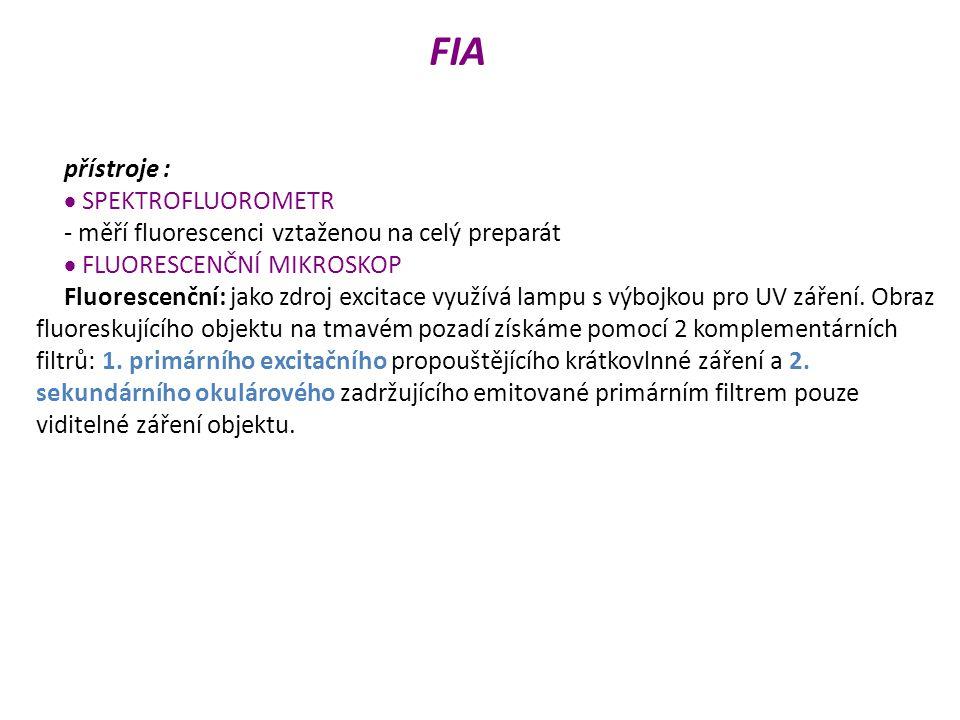 FIA přístroje :  SPEKTROFLUOROMETR