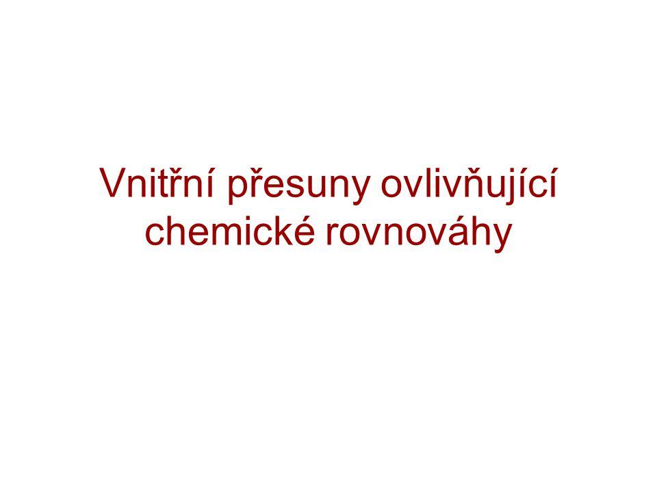 Vnitřní přesuny ovlivňující chemické rovnováhy