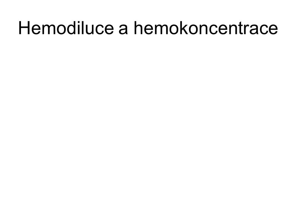 Hemodiluce a hemokoncentrace