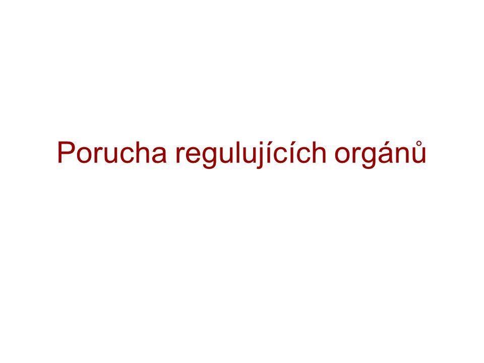 Porucha regulujících orgánů