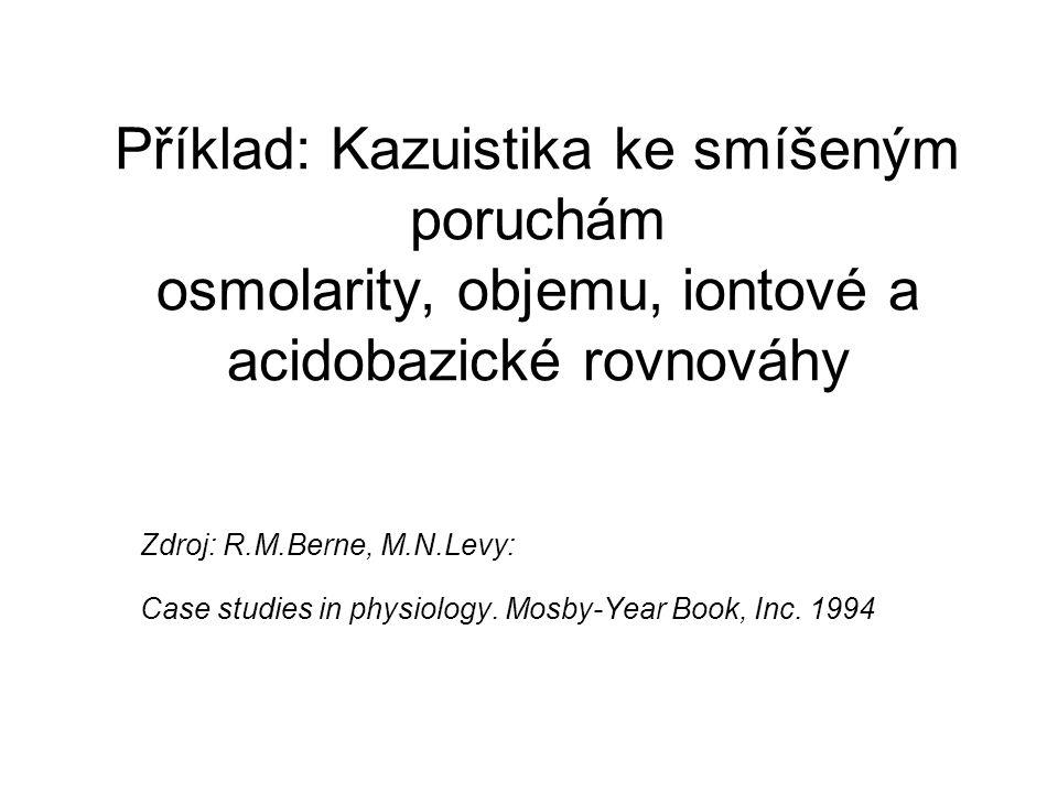 Příklad: Kazuistika ke smíšeným poruchám osmolarity, objemu, iontové a acidobazické rovnováhy
