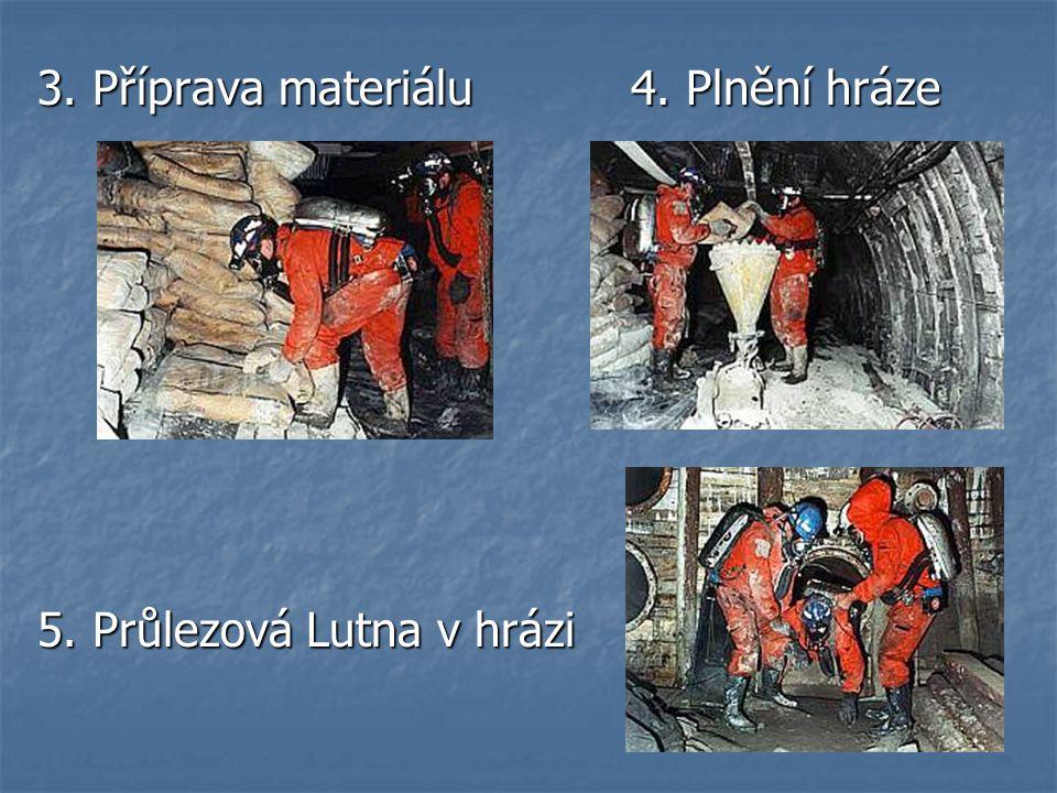 3. Příprava materiálu 4. Plnění hráze