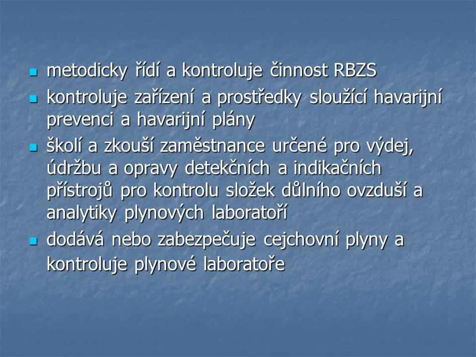 metodicky řídí a kontroluje činnost RBZS