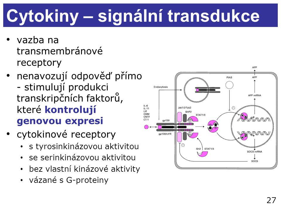 Cytokiny – signální transdukce