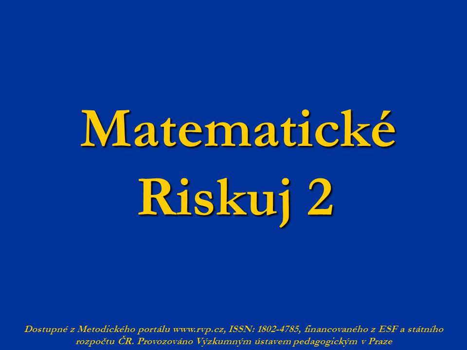 Matematické Riskuj 2