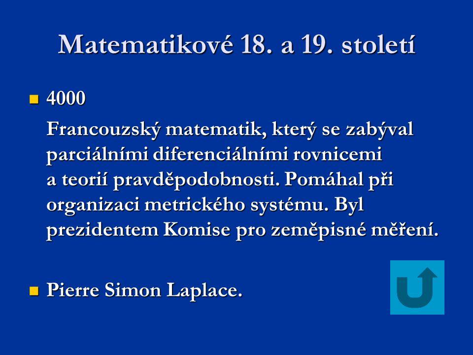 Matematikové 18. a 19. století