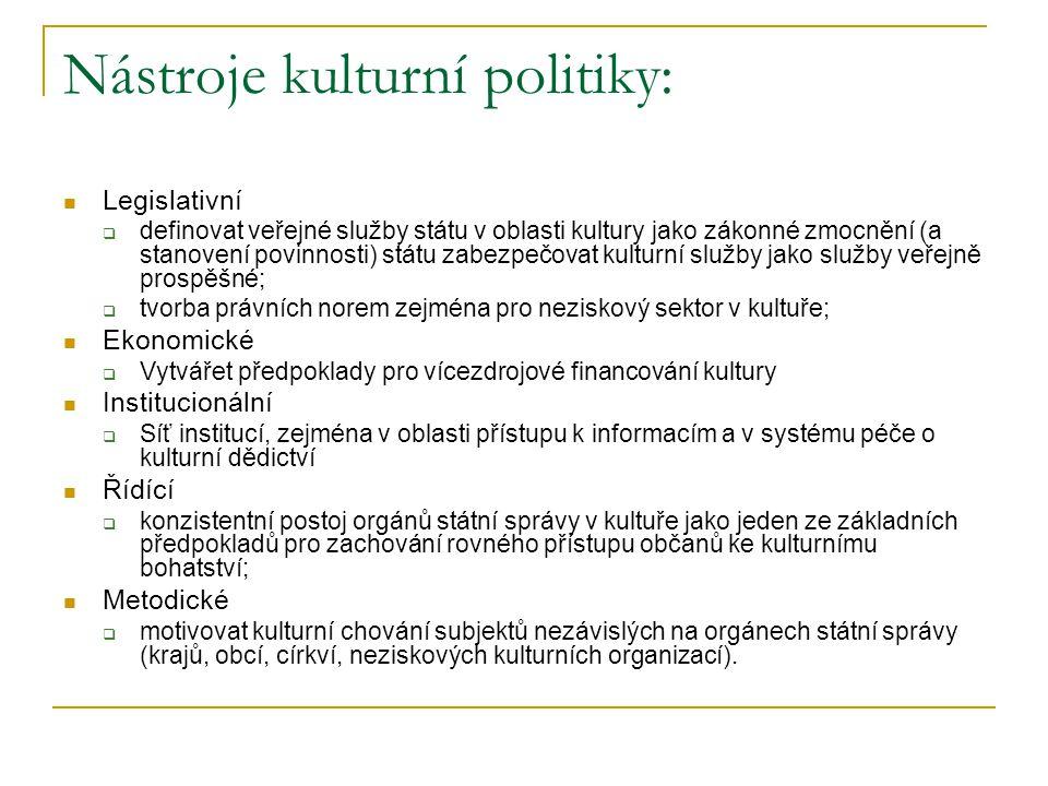 Nástroje kulturní politiky: