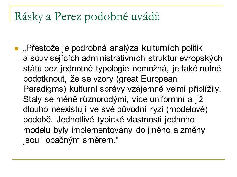 Rásky a Perez podobně uvádí: