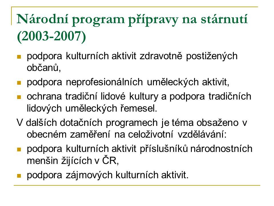 Národní program přípravy na stárnutí (2003-2007)