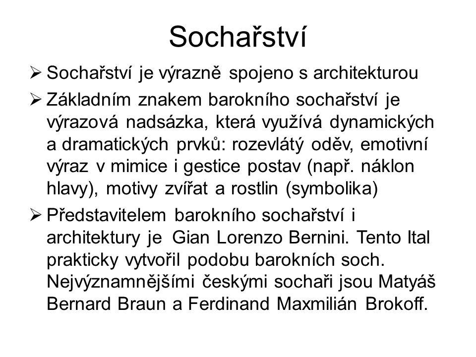 Sochařství Sochařství je výrazně spojeno s architekturou