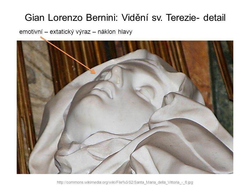 Gian Lorenzo Bernini: Vidění sv. Terezie- detail