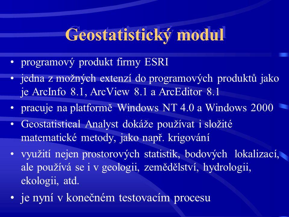 Geostatistický modul je nyní v konečném testovacím procesu