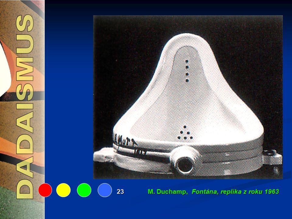 23 M. Duchamp, Fontána, replika z roku 1963