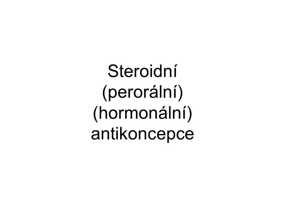 Steroidní (perorální) (hormonální) antikoncepce